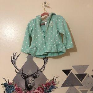 Carters | Polka Dot Sweater Hoodie Sz 18m